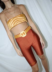 CULT FORM TERRACOTTA YORGAN TIGHTS (S)