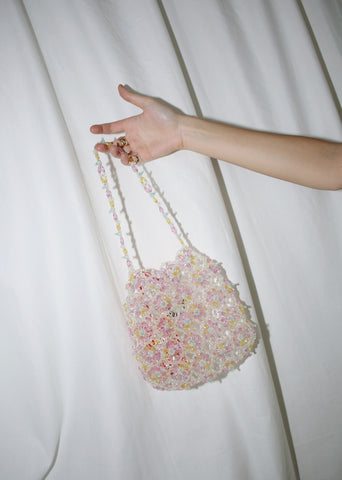 SCULPTURE. SUNFLOWER BEADED BAG