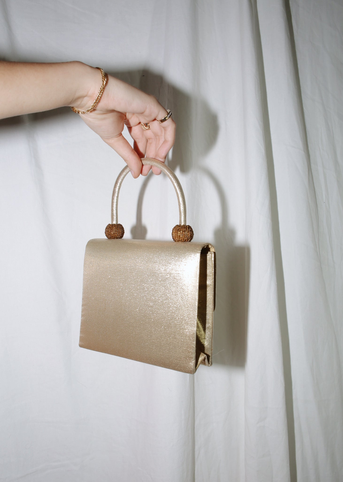 VINTAGE GOLD MINI HANDBAG