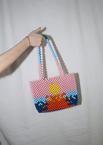 CYNARA COLORFUL BEADED NYON BAG