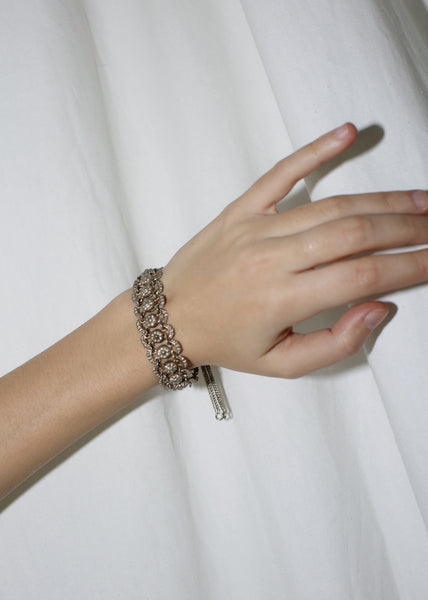 VINTAGE FILIGREE SILVER ADJUSTABLE BRACELET