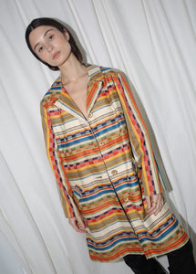 VINTAGE COLORFUL STRIPED COAT (S)