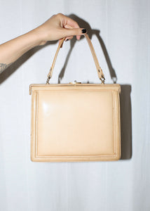 VINTAGE BEIGE LEATHER HANDBAG