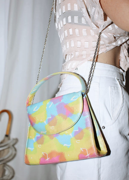 VINTAGE WATERCOLOR PAINT SPLASH HANDBAG