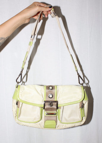 VINTAGE PRADA GREEN SHOULDER BAG