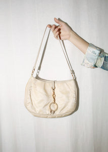 VINTAGE PRADA BEIGE TESSUTO NYLON SHOULDER BAG