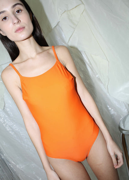 VINTAGE ORANGE SWIMSUIT (S)