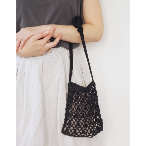 Bianca Linen Bag S (Black)
