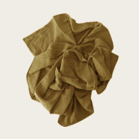 Muslin Wrap Blanket (Gold)