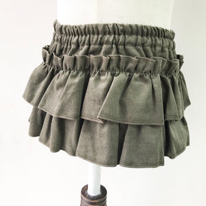 Corduroy Frill Bloomer Skirt
