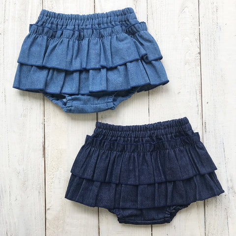 Denim Frill Bloomer Skirt