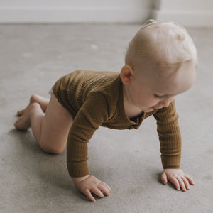 Cotton Modal Bodysuit (Bronze)