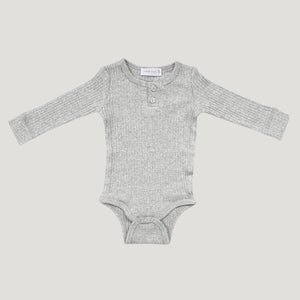 Jamie Kay Cotton Bodysuit (Light Grey Marle)
