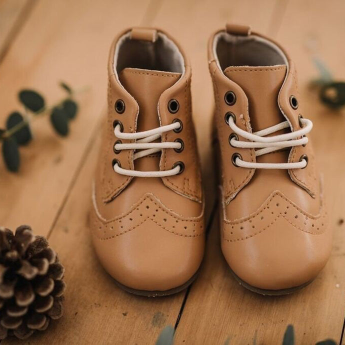 Mary Robyn Lace-Up Boots (Tan)