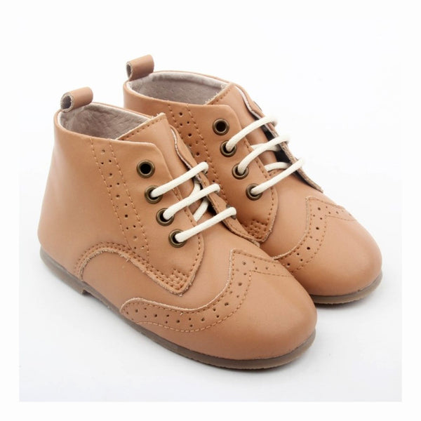 Lace-Up Boots (Tan)