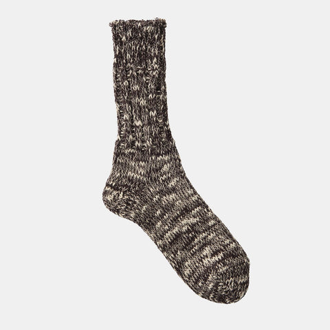 Linen Cotton Mix Socks (Brown)