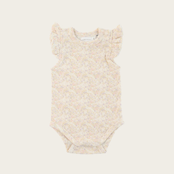 Frill Singlet Bodysuit (Forget Me Not)