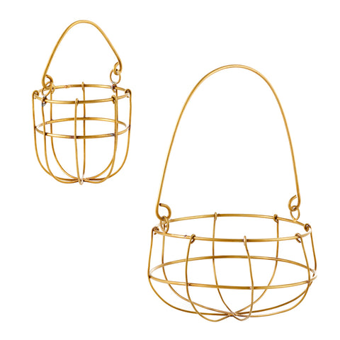 Brass Hanging Basket