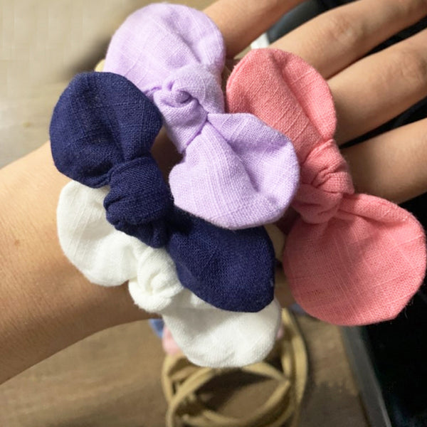 Cotton Bow Headband - 4 pack