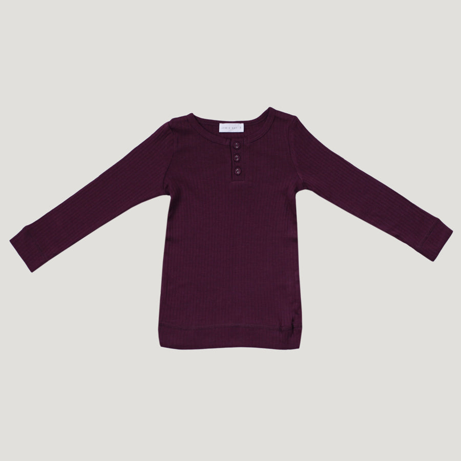 Jamie Kay Cotton Modal Henley (Fig)