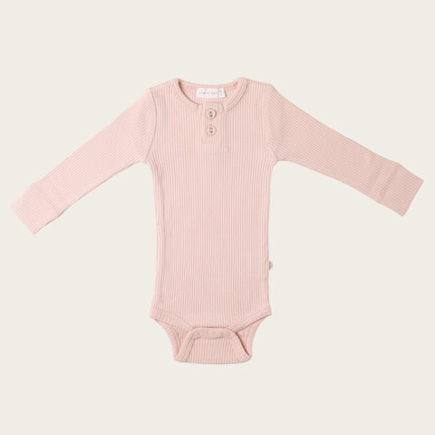 Organic Essential Long Sleeve Bodysuit (Rosebloom)