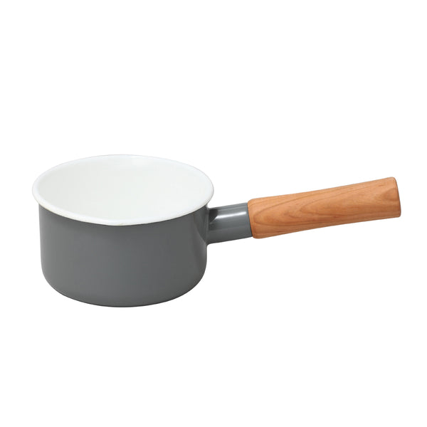 Enamel Milk Pan 12cm (Grey)