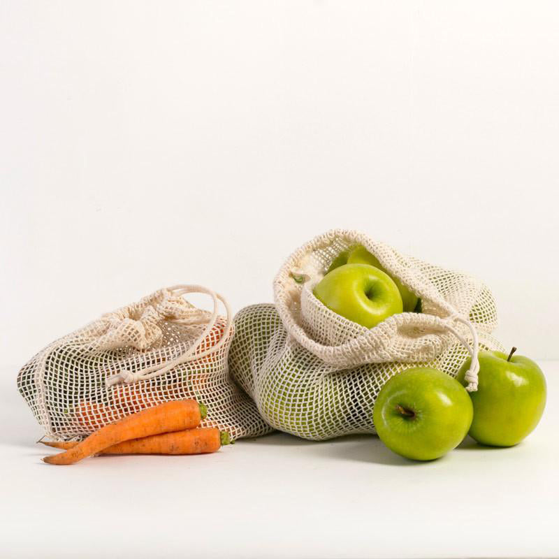 Organic Cotton Produce Bags (Multi Pack of 3)