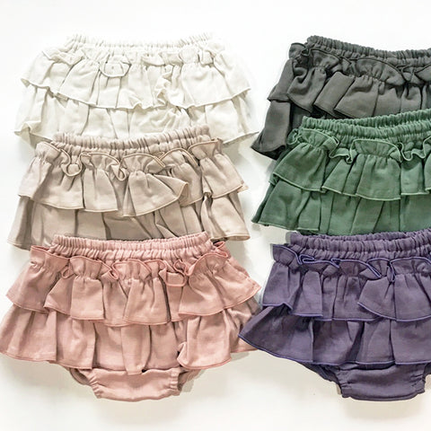 Triple Gauze Muslin Frill Bloomer Skirt