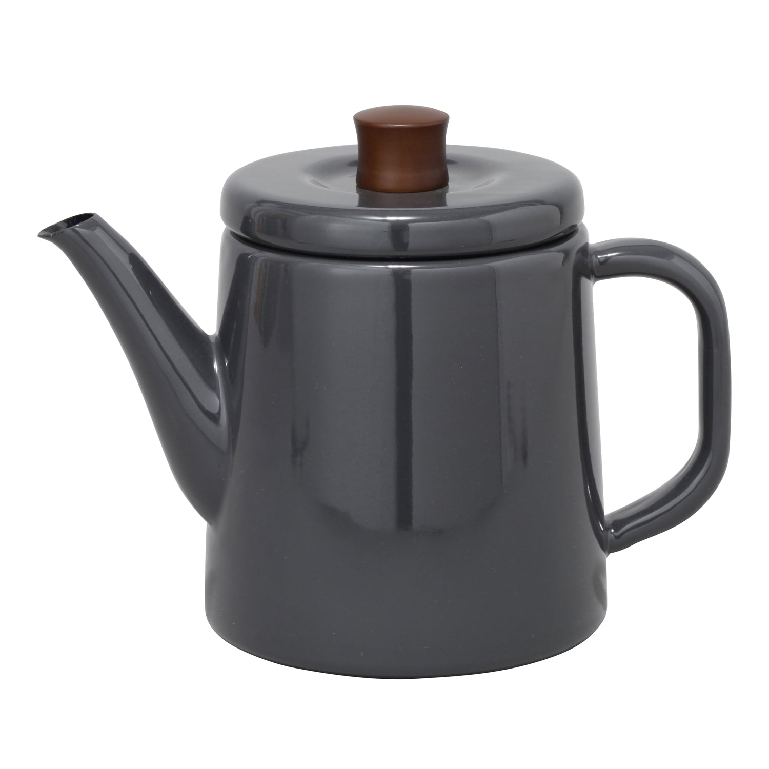 Enamel Teapot / Kettle (Grey)