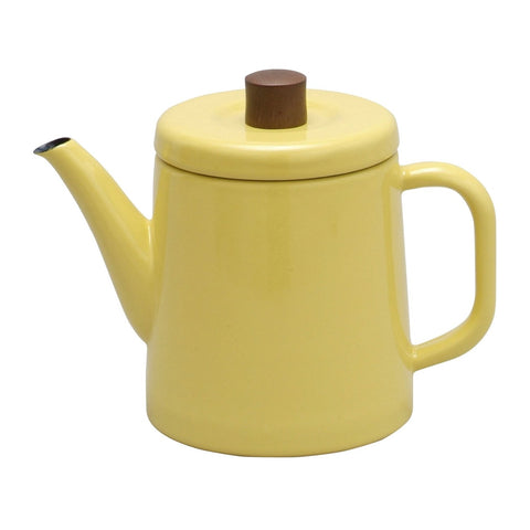 Enamel Teapot / Kettle (Yellow)