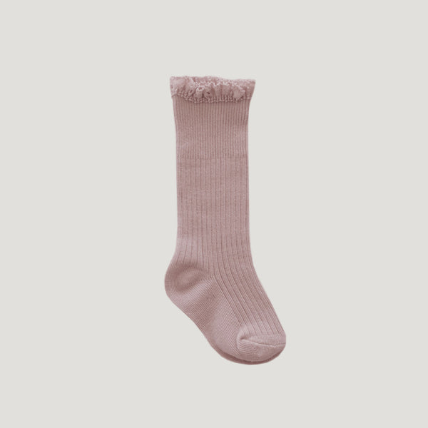 Knee High Frill Socks (Petal)
