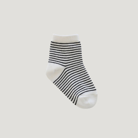 Stripe Socks (Ink / Cloud)