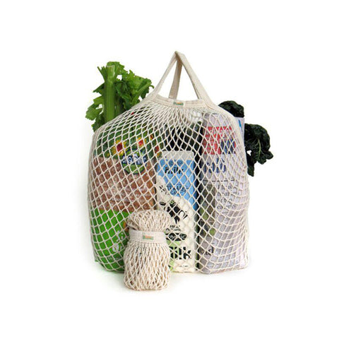 Organic Cotton String Grocery Bag (Short Handle)