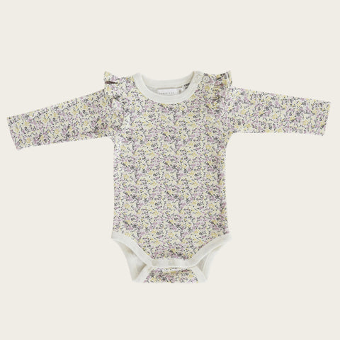 Long Sleeve Frill Bodysuit (Summer Floral)