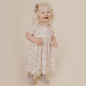 Short Sleeve Dress (Sweet Pea Floral)