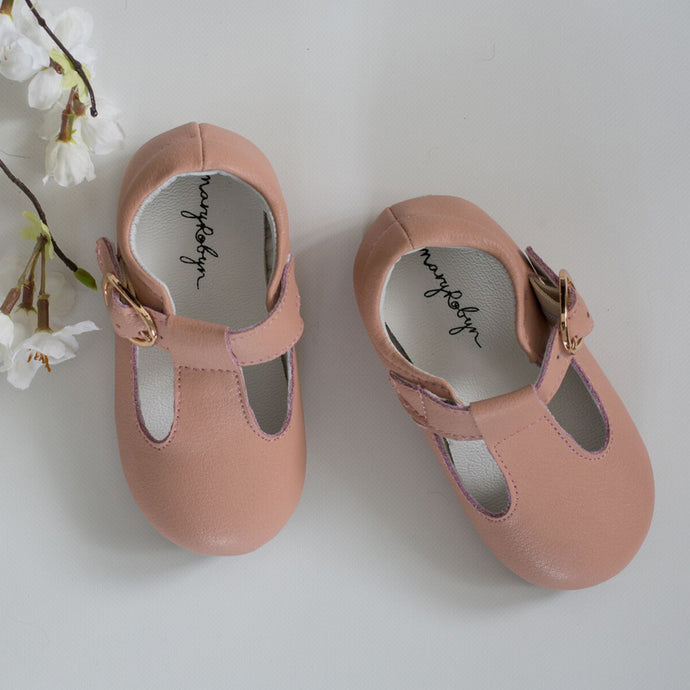 Mary Robyn T-Bar Shoes (Blush)