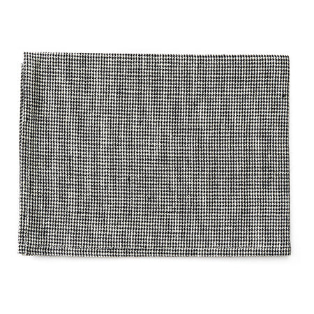Fog Linen Tea Towel (Black Houndstooth)