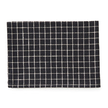 Fog Linen Tea Towel (Black with Ivory Plaid)