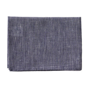Linen Tea Towel (Navy x White)