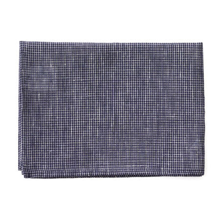 Fog Linen Tea Towel (Navy x White)