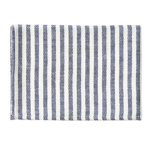 Fog Linen Chambray Tea Towel (Navy & White Stripe)