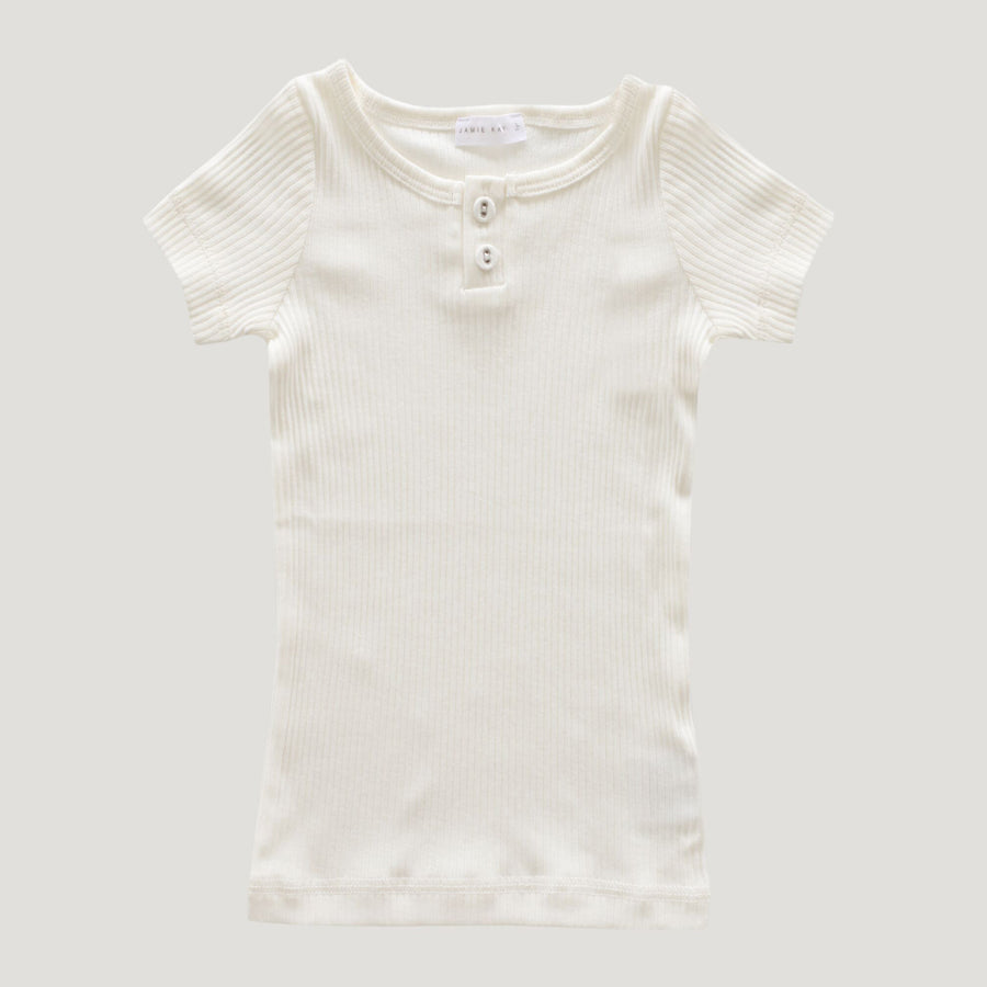 Cotton Modal Tee (Milk)