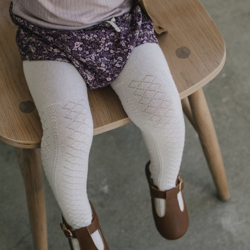 Jamie Kay Vintage Lace Tights (Off White)