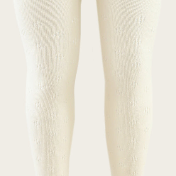 Pointelle Tights (Milk)
