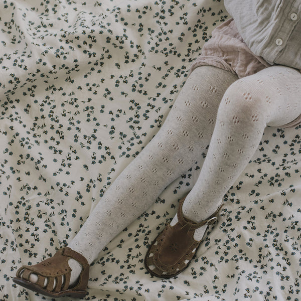 Pointelle Tights (Oatmeal)