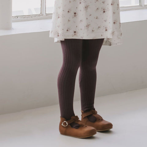 Rib Tights (Elderberry)