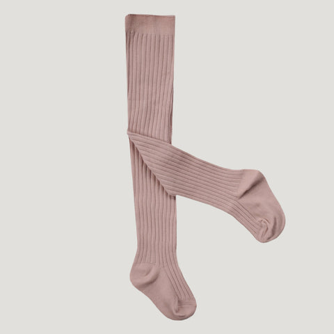 Rib Tights (Rosy)