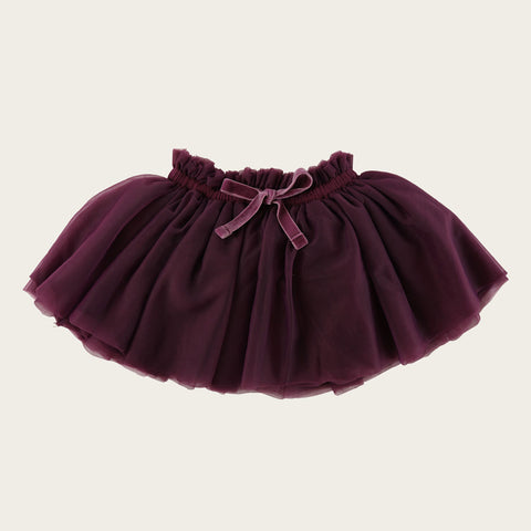 Soft Tulle Skirt (Plum)