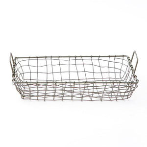 Wire Tray Basket with Handles