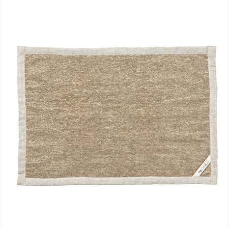 Linen Massage Bath Mat (Natural)